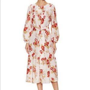 JILL STUART floral tie waist dress NWT SZ4